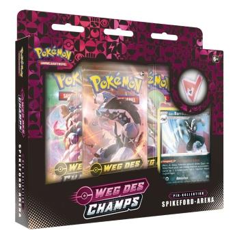 Pokémon Schwert und Schild Weg des Champs Spikeford-Arena Pin Box
