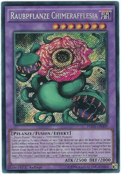 fuen-de009 secret rare deutsch NEU Karte Yu-gi-oh RAUBPFLANZE CHIMERAFFLESIA